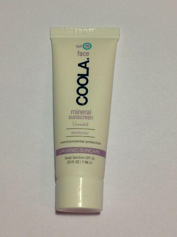 Coola Organic Unscented Mineral Sunscreen Face Moisturizer// traded Amanda