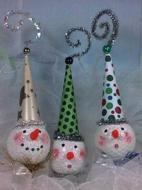 Our golf ball ornaments are so cute!