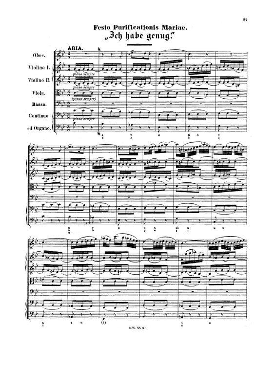 Bach - Ich habe genug, BWV 82 - Free sheet music and ...