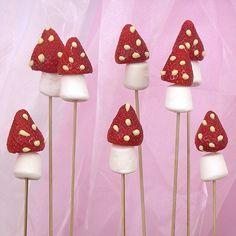 Strawberry Mushrooms. Fairy party food - kids birthday party theme idea