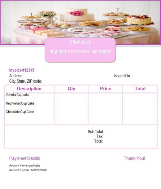 7 Free Cake Invoice Templates For Bakery Business Template Sumo Invoice Template Bakery Business Business Template
