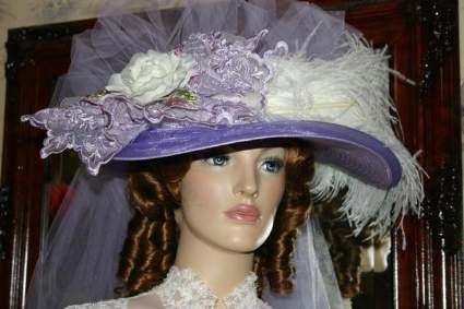 Victorian Hat � Lavender Crystal Fairy
