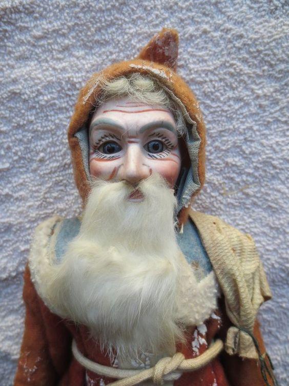 "Exquisite Antique German Composition Santa 12"""
