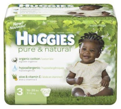 Greenwashed disposable diapers