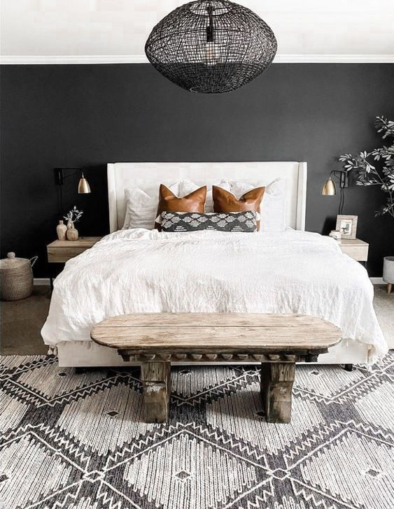10 Bright And Airy Black And White Boho Bedroom Ideas Diy Darlin Bedroom Interior Master Bedroom Inspiration Bedroom Inspirations Bedroom decoration black and white