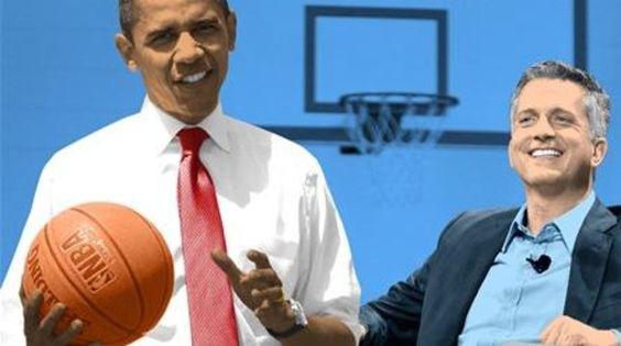 أوباما يلعب كرة السلة يوم الانتخابات