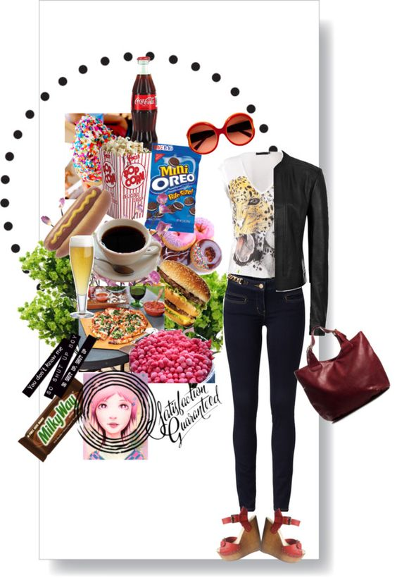 """junk food"" by alexarbrito on Polyvore"