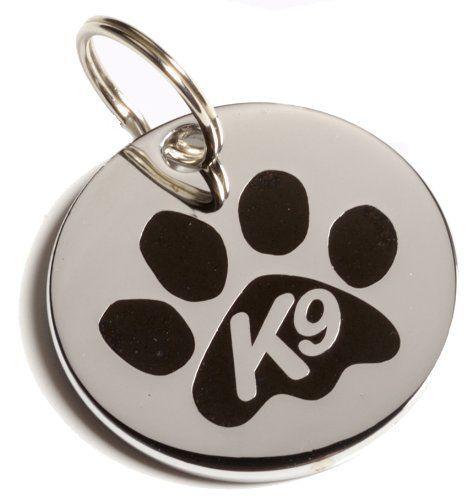 K9 Étiquette d'identification Patte Boîte cadeau Noir K9 - 8 EUROS