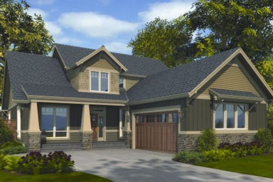 House plan 48 267 craftsman l shape house layout L shaped bungalow house plans