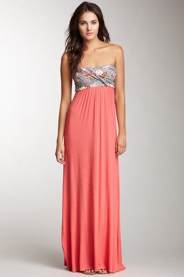 Wrapped Bust Strapless Maxi DresS - &quot-FASHION- GIFTS &amp- FOODS - That ...