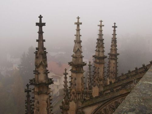 """ghostlywatcher: """"  St. Barbara Cathedral, Czech Republic. """""""