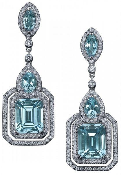Parisian Deco Blue Topaz Earrings - Robert Procop Exceptional Jewels