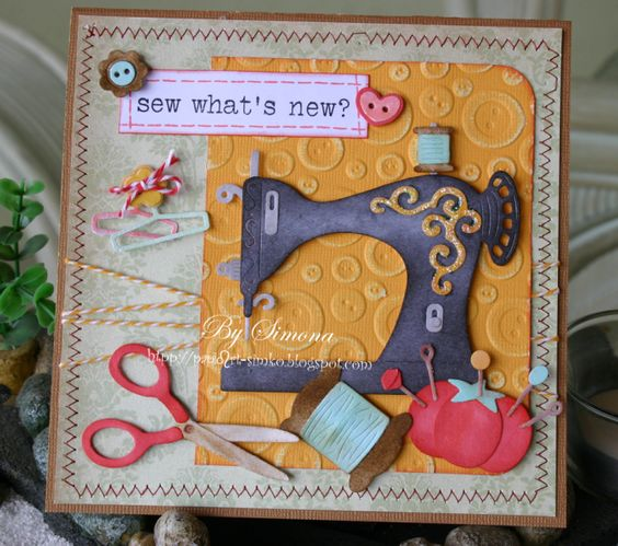 Sew what's new? by Simko - Cards and Paper Crafts at Splitcoaststampers