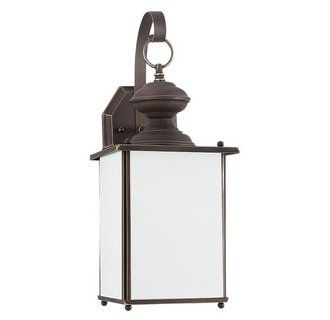 View the Sea Gull Lighting 84158D Jamestowne 1 Light Outdoor Lantern Wall Sconce at LightingDirect.com.