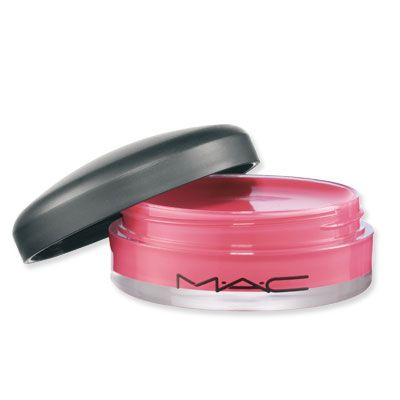 """MAC Fuchsia Fix Tinted Lip Conditioner in Fuschia Fix: """"This balm is super hydrating, a great color, and tastes delicious. Plus it has SPF15! Quadruple Whammy. I love having it in my bag to go to the beach and any time I need some conditioning action."""" #eamlipstickloves"""