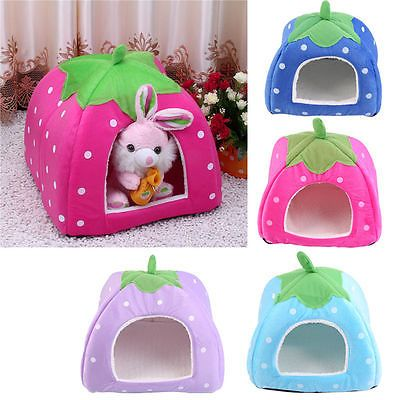 Soft strawberry pet igloo dog cat bed #house #kennel doggy #fashion cushion baske,  View more on the LINK: 	http://www.zeppy.io/product/gb/2/262326623617/