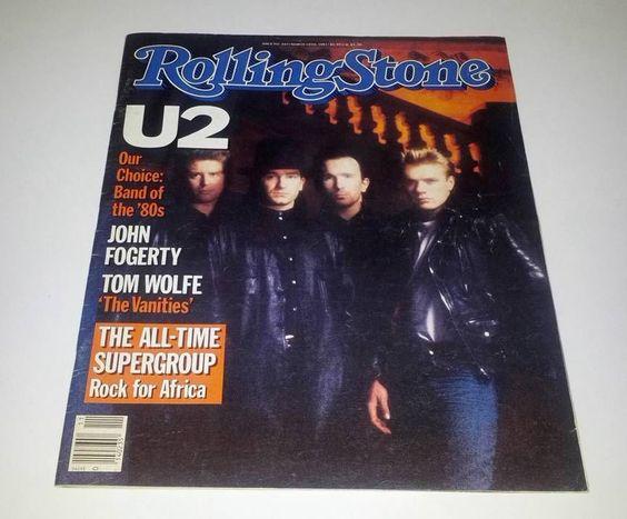 Rolling Stone 1985 Magazine U2 Band of the 80's Bono Edge Mullen Clayton #planetofpop