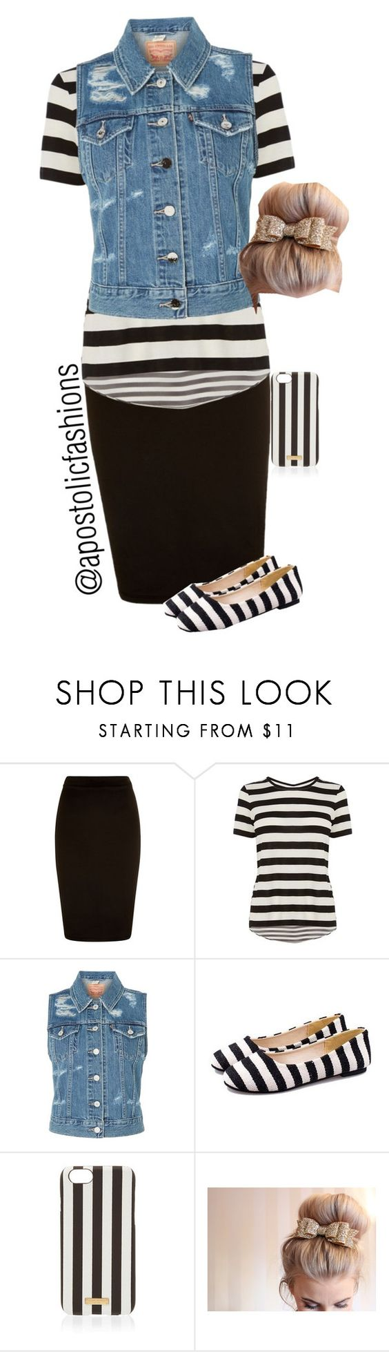 """Apostolic Fashions #965"" by apostolicfashions on Polyvore featuring Karen Millen, Levi's and Henri Bendel:"