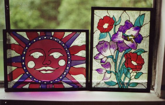 Gallery Glass paint on frames.