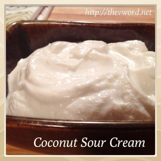Veganmofo Day 10 Coconut Sour Cream Sour Cream Recipes Sour Cream Sour Cream Alternative