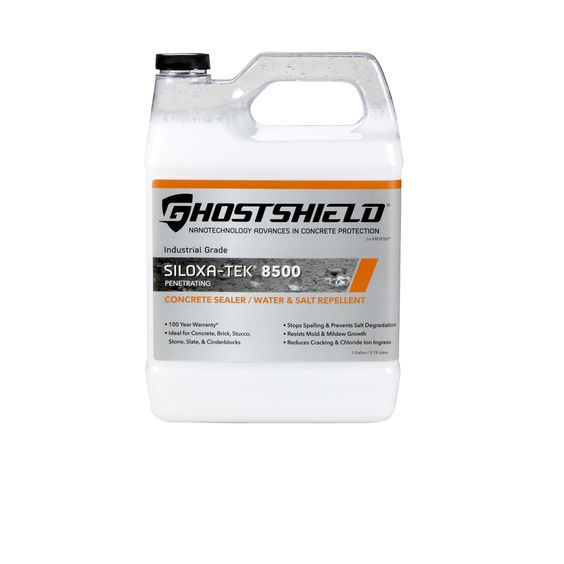 Ghostshield Clear Natural Finish Penetrating Concrete/Masonry/Brick Sealer, Water and Salt Repellent