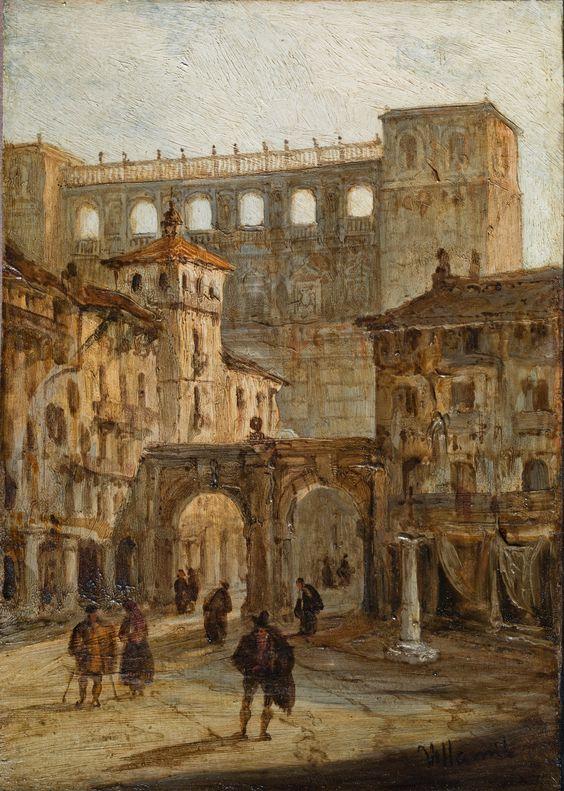 El Alcázar de Toledo desde la plaza de Zocodover
