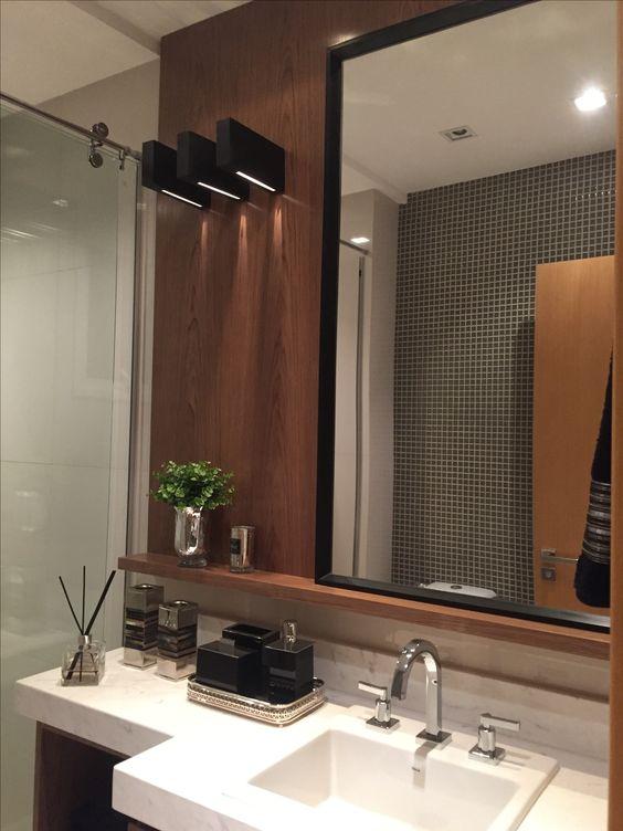 Banheiro Decorado Plaenge  BANHEIROS  Pinterest  Banheiros, Banheiro desco -> Banheiro Decorado Plaenge