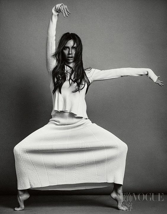 As you've never seen her before: Victoria Beckham proved that she had an extremely silly s...:
