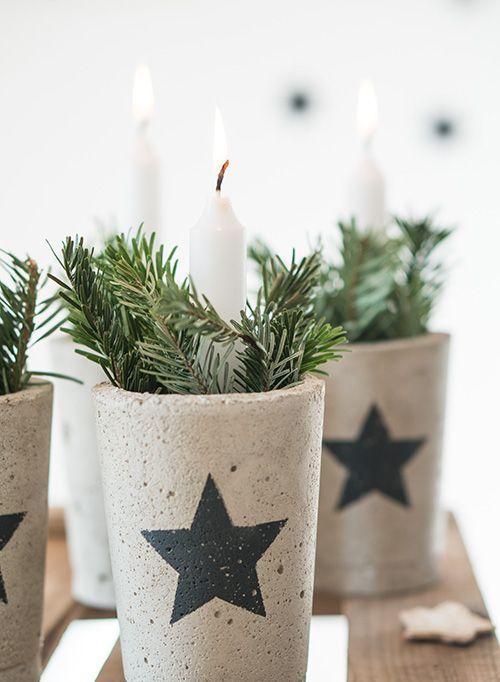Ideas Para Decorar Con Velas En Navidad Arte Con Cemento Manualidades En Cemento Diy Y Manualidades