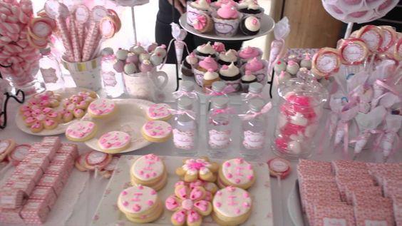 Decoracion bautismo antonella di pietro mesas de dulces for Mesa de dulces para bautizo de nina