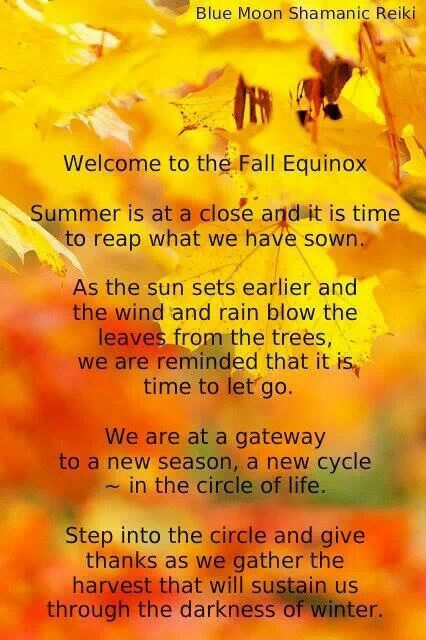 Welcome The Fall Equinox! Visit the post for more.