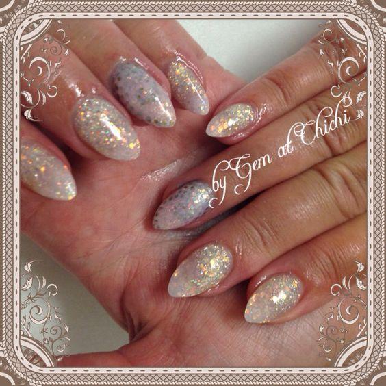 Subtle silver polka dot swirls with sharpie nail art