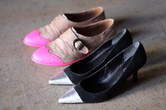 DIY alert! Make your own cap-toe shoes in 4 easy steps.