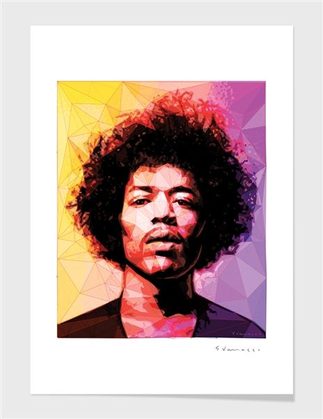 """""""Hendrix"""", Numbered Edition Fine Art Print by enrico varrasso - From $39.00 - Curioos"""