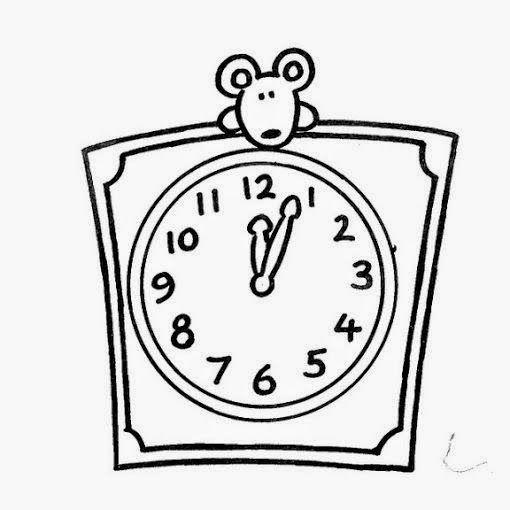 Maestra De Infantil Dibujos Grandes Para Colorear Por Ninos De 3 Anos En 2020 Relojes Blancos Paginas Para Colorear Reloj De Arena Dibujo