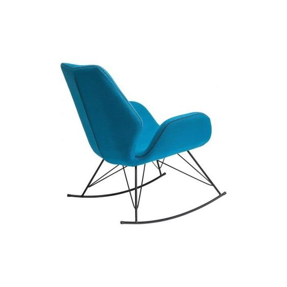 fauteuil rocking chair florida turquoise kare design achat vente fauteuil bleu soldes d. Black Bedroom Furniture Sets. Home Design Ideas