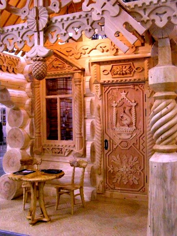 Russian wood carving wow amazing