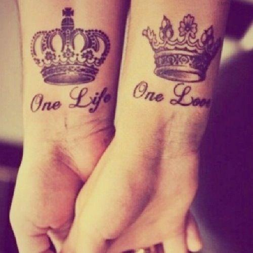 One Love   One Life ... Partner tattoo