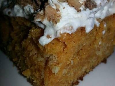 Pumpkin Toffee Crunch Cake