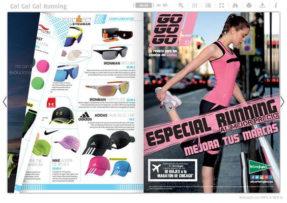 Interior de la revista Go! Go! Go! (Especial running), que incluye una sección para mujer.