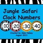 A set of 4 different clock numbers to use in your classroom! Simply print, cut, and stick on the wall by your clock. Mix  match different jung...