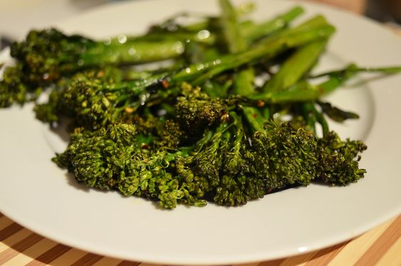chili and lime oven roasted broccolini