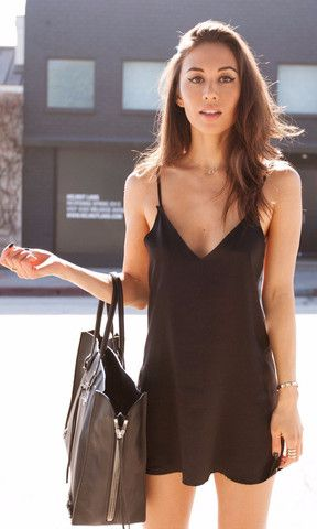 Zillah Slip Dress - Black | Are You Am I: