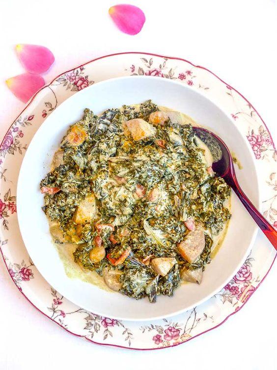 Une recette originale à base de chou, un curry de chou kale au lait de coco. Un plat vegan très parfumé mêlant la coco et les épices pour un repas gourmand.