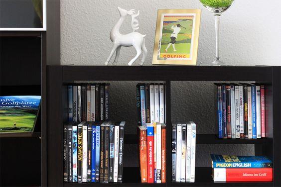 """Ikea Expedit Regaleinsatz für Bücher, DVDs oder Bluray Discs (ermöglicht ein """"versetztes Übereinander stellen"""")"""