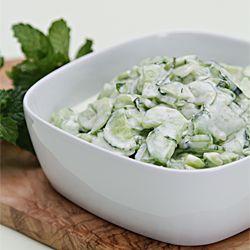 Cucumber salad with Greek yogurt