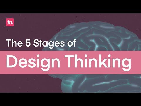 5 Stages Of The Design Thinking Process Youtube In 2020 Design Thinking Process Design Thinking Tool Design