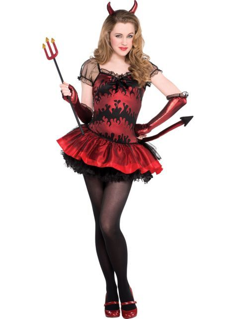 For the girls and tween heavenly devil costume