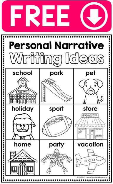 narrative writing topics for kindergarten