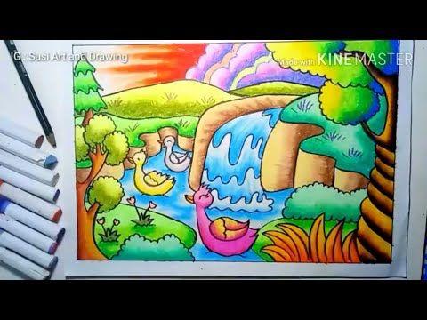 Pin Di Waterfall Drawing